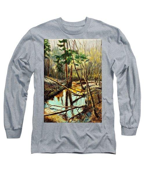 Lubianka-1- River Long Sleeve T-Shirt by Henryk Gorecki