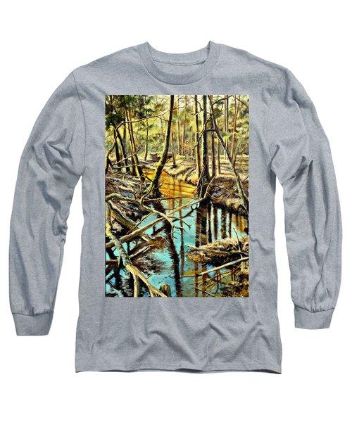 Lubianka-3-river Long Sleeve T-Shirt by Henryk Gorecki
