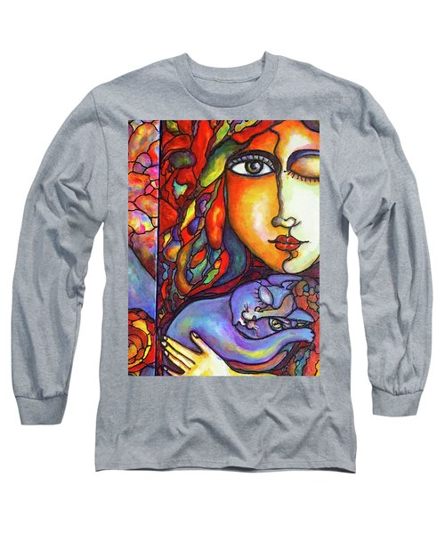 Long Sleeve T-Shirt featuring the painting Lucid Dreams by Rae Chichilnitsky