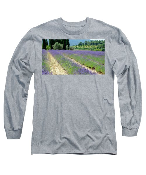 Long Sleeve T-Shirt featuring the photograph Lucid Lavender by August Timmermans