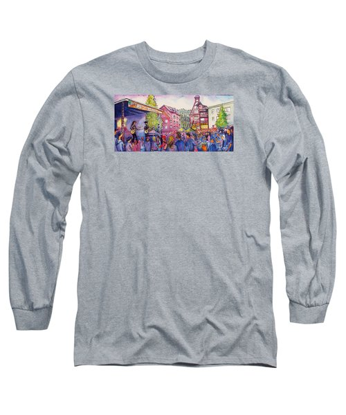 Long Sleeve T-Shirt featuring the painting Lukas Nelson And Promise Of The Real by David Sockrider