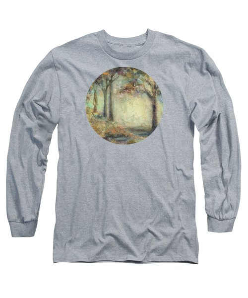 Long Sleeve T-Shirt featuring the painting Luminous Landscape by Mary Wolf
