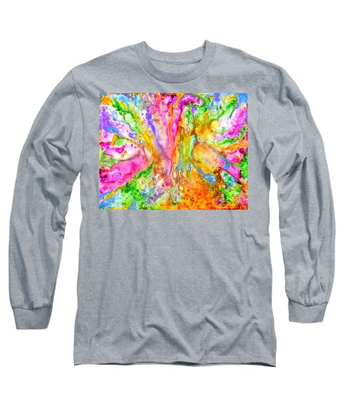 Luscious Colorful Modern Abstract With Pastel Shades Long Sleeve T-Shirt
