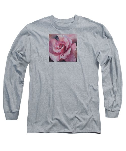 Long Sleeve T-Shirt featuring the painting Lyndys Rose by Sandra Phryce-Jones
