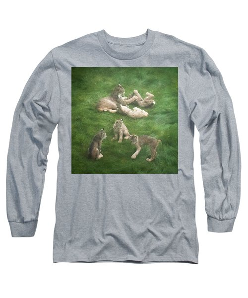 Lynx In The Mist Long Sleeve T-Shirt