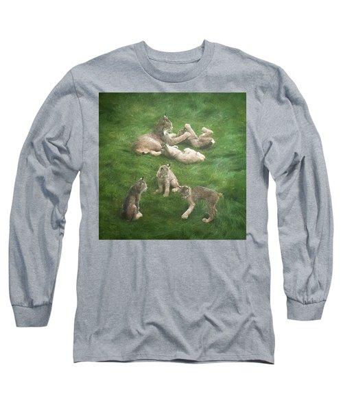 Lynx In The Mist Long Sleeve T-Shirt