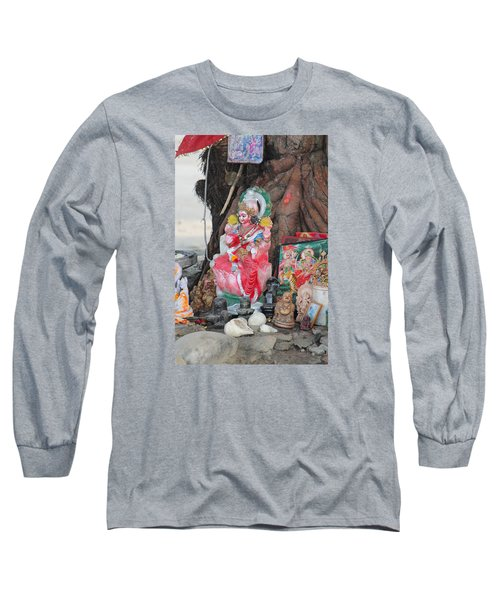 Ma Durga Tree Temple, Haridwar Long Sleeve T-Shirt by Jennifer Mazzucco