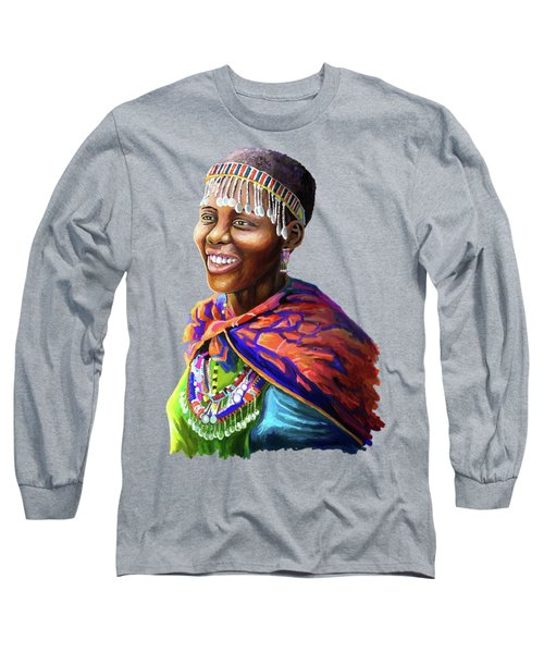 Maasai Girl Long Sleeve T-Shirt