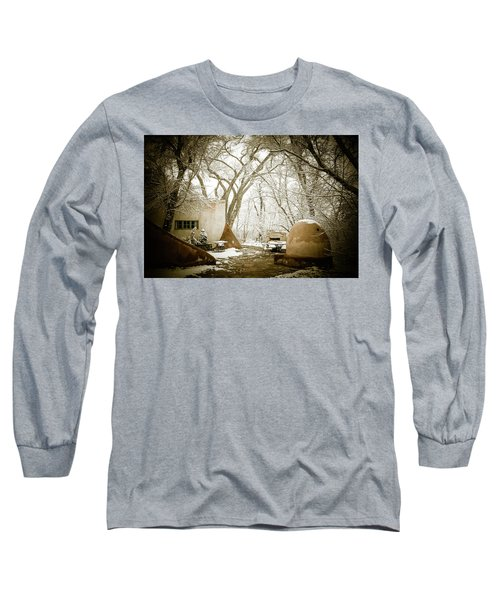 Long Sleeve T-Shirt featuring the photograph Mabel Luhan Dodge Home Exterior by Marilyn Hunt