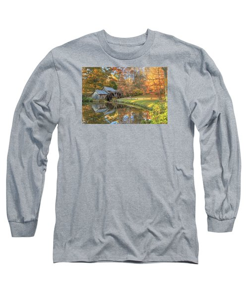 Long Sleeve T-Shirt featuring the photograph Mabry Mill. Blue Ridge Parkway by Doug McPherson