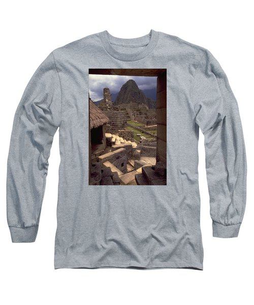Long Sleeve T-Shirt featuring the photograph Machu Picchu by Travel Pics