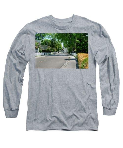 Mackinac Island Street Long Sleeve T-Shirt