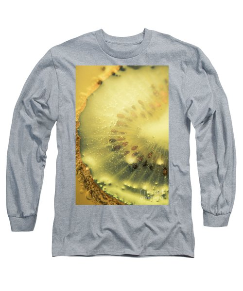 Macro Shot Of Submerged Kiwi Fruit Long Sleeve T-Shirt