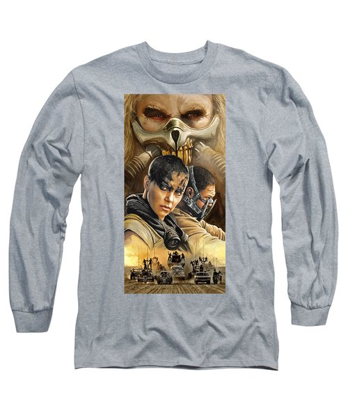 Long Sleeve T-Shirt featuring the painting Mad Max Fury Road Artwork by Sheraz A