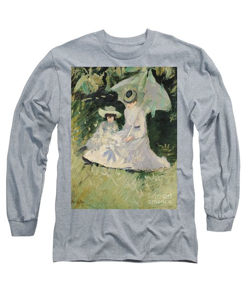 Madame Helleu And Her Daughter At The Chateau Of Boudran Long Sleeve T-Shirt