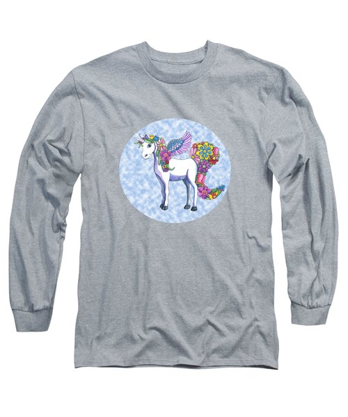 Madeline The Magic Unicorn 2 Long Sleeve T-Shirt by Shelley Wallace Ylst