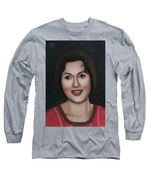 Madhubala - The Angel Of India Long Sleeve T-Shirt