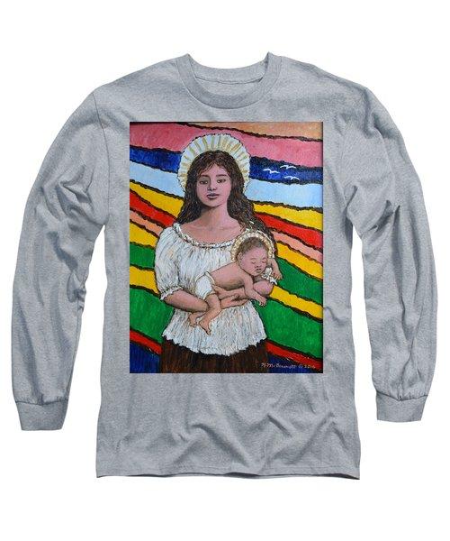 Madonna Of The Promised Land Long Sleeve T-Shirt by Kathleen McDermott