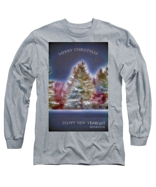 Merrry Christmas And Happy New Year Long Sleeve T-Shirt by Jim Lepard