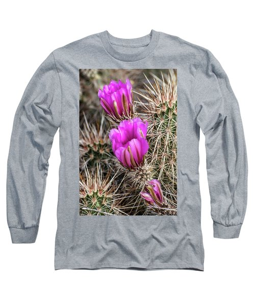 Magenta Cactus Flowers Long Sleeve T-Shirt