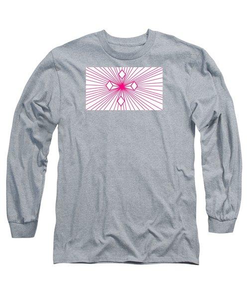 'magenta Lines 1' Long Sleeve T-Shirt