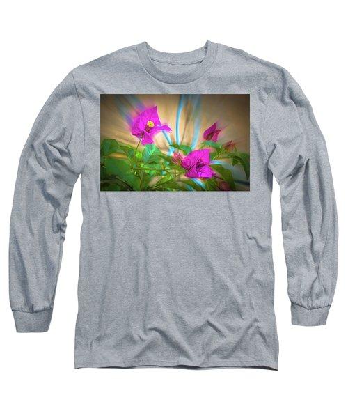 Magenta Magic Long Sleeve T-Shirt by Mark Dunton
