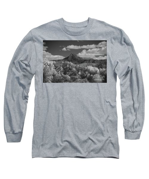 Long Sleeve T-Shirt featuring the photograph Magestic Peak by Vicki Pelham