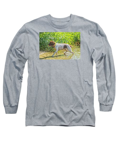 Long Sleeve T-Shirt featuring the photograph Maggie Stride by Constantine Gregory