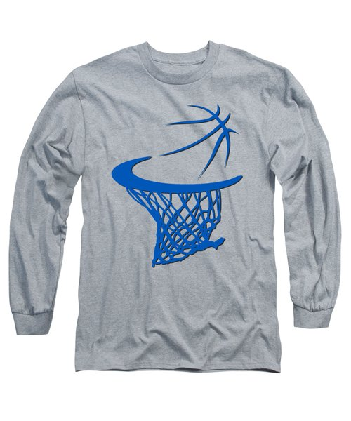 Magic Basketball Hoop Long Sleeve T-Shirt by Joe Hamilton