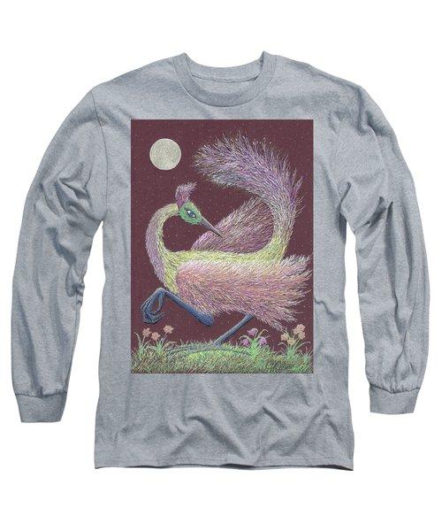 Magic Moon Dance Long Sleeve T-Shirt by Charles Cater
