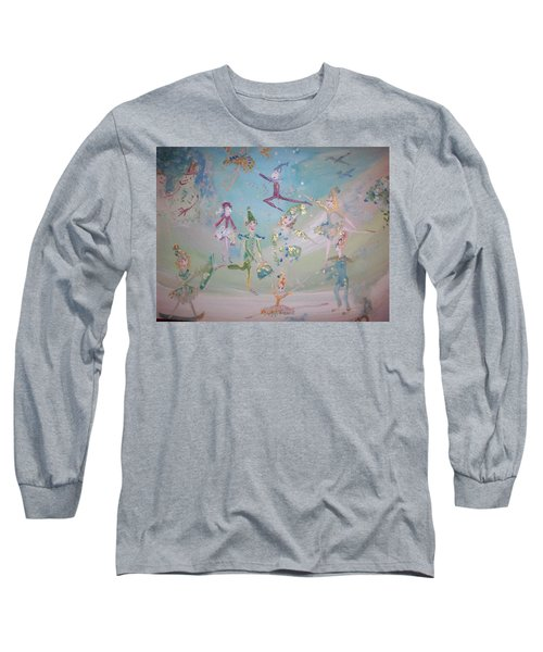 Magical Elf Dance Long Sleeve T-Shirt by Judith Desrosiers