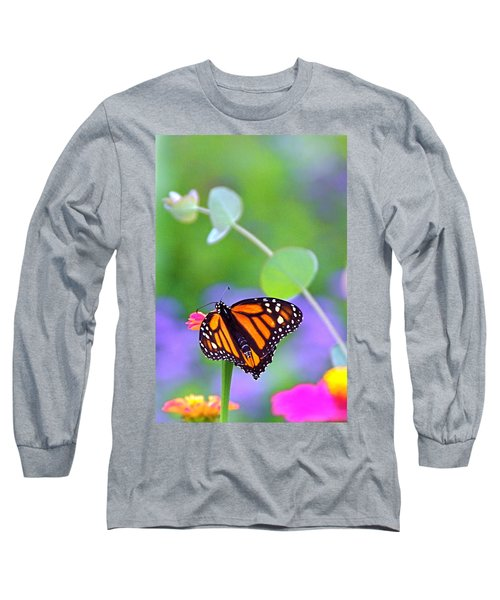 Long Sleeve T-Shirt featuring the photograph Magical Monarch by Byron Varvarigos
