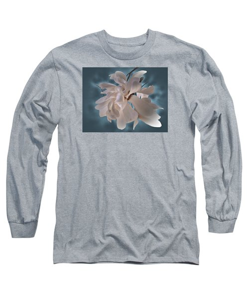Magnolia Blossoms Long Sleeve T-Shirt by Judy Johnson
