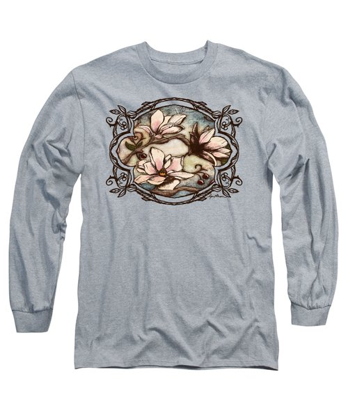 Magnolia Branch II Long Sleeve T-Shirt by April Moen