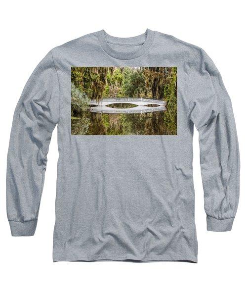 Magnolia Plantation Gardens Bridge Long Sleeve T-Shirt