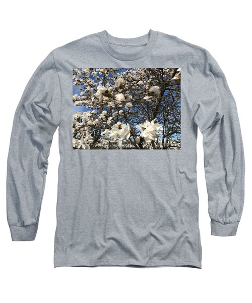 Long Sleeve T-Shirt featuring the photograph Magnolia Tree In Blossom by Patricia Hofmeester