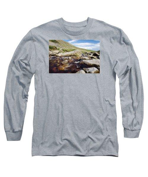 Mahon Falls And River Long Sleeve T-Shirt by Martina Fagan