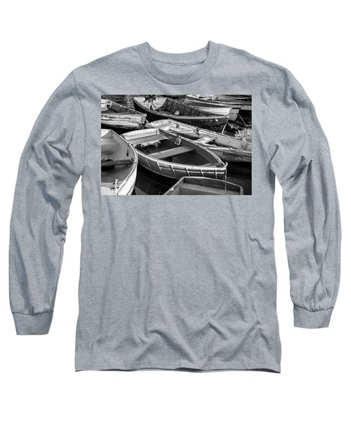Long Sleeve T-Shirt featuring the photograph Maine Boats by Ranjay Mitra