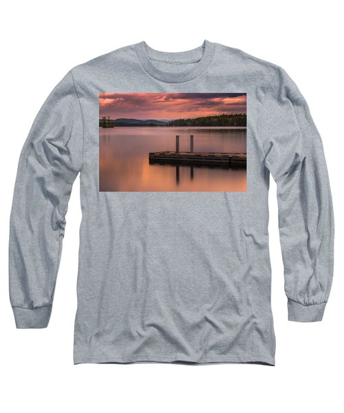 Maine Highland Lake Boat Ramp At Sunset Long Sleeve T-Shirt