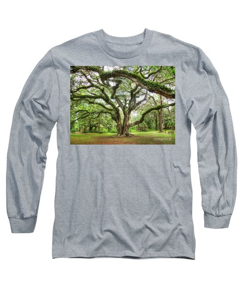 Majestic Oak Long Sleeve T-Shirt by Myrna Bradshaw