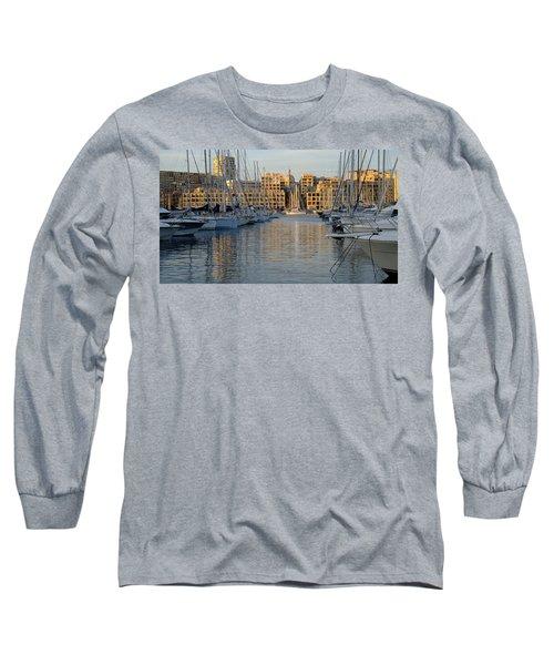 Long Sleeve T-Shirt featuring the photograph Majestic Vieux Port by August Timmermans
