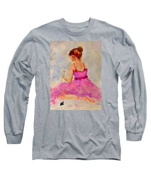 Long Sleeve T-Shirt featuring the painting Make A Wish..16 by Cristina Mihailescu