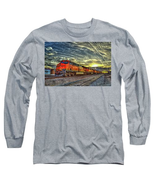 Make Way Resting B N S F Train Gallup New Mexico Art Long Sleeve T-Shirt