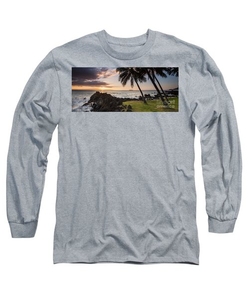 Makena Sunset Maui Hawaii Long Sleeve T-Shirt