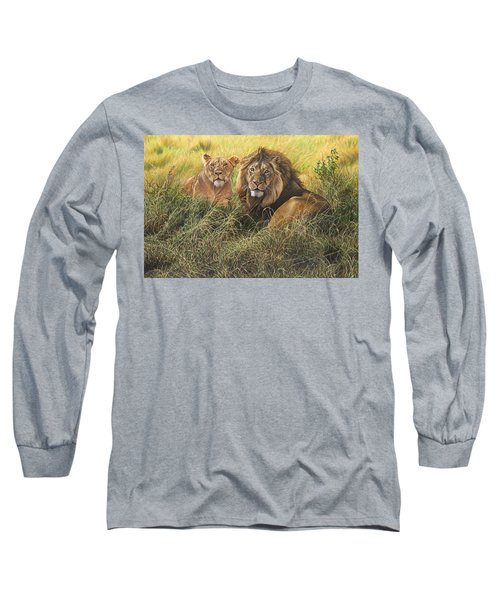 Male And Female Lion Long Sleeve T-Shirt