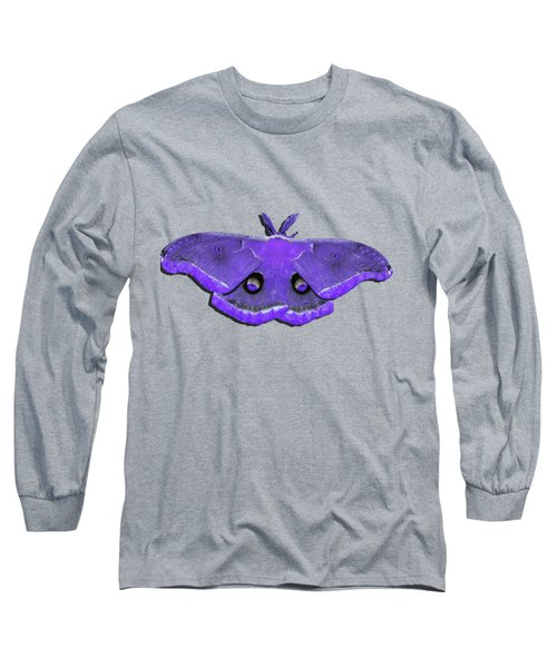 Long Sleeve T-Shirt featuring the photograph Male Moth Purple .png by Al Powell Photography USA