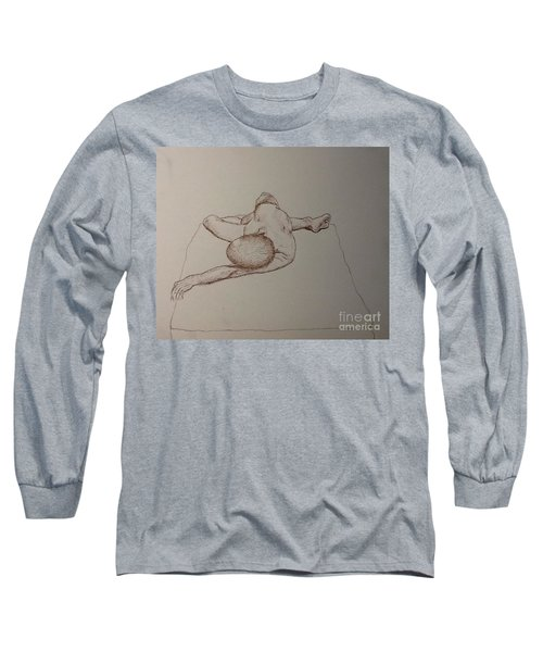 Male Nude Life Drawing Long Sleeve T-Shirt