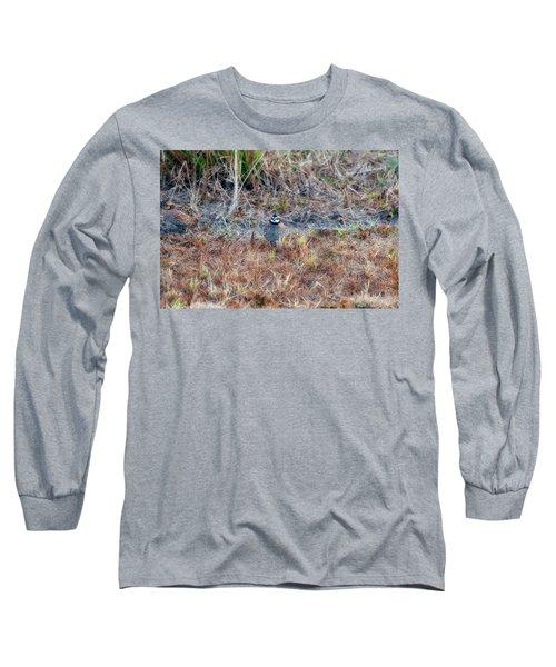 Male Quail In Field Long Sleeve T-Shirt