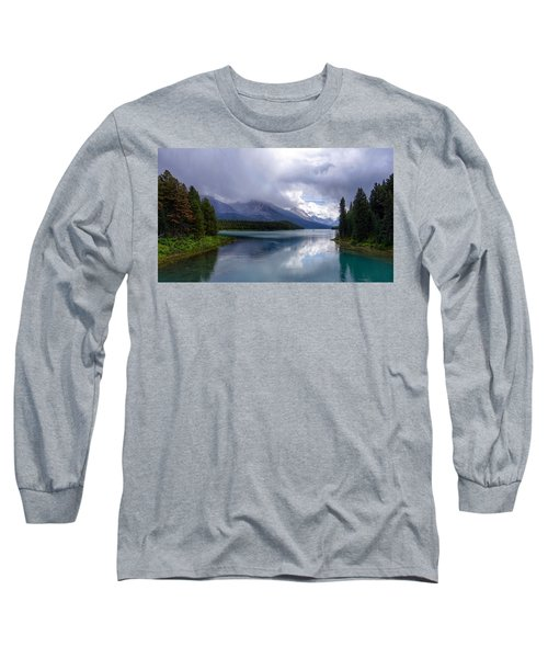 Maligne Lake Long Sleeve T-Shirt by Heather Vopni