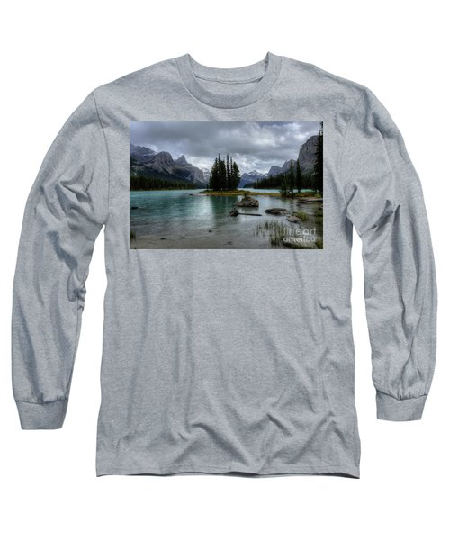 Maligne Lake Spirit Island Jasper National Park Alberta Canada Long Sleeve T-Shirt